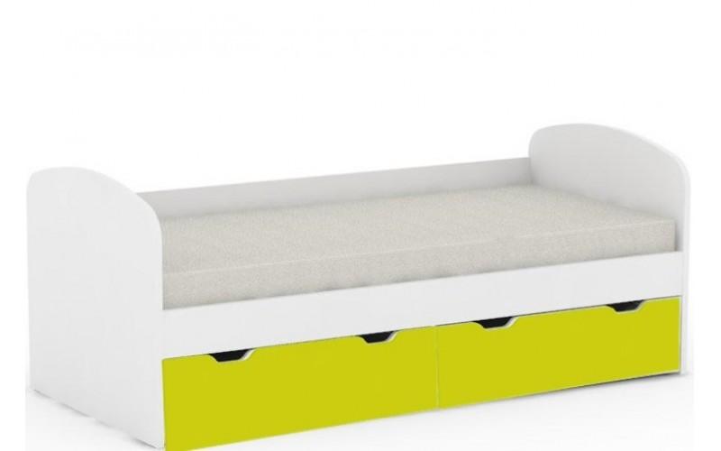 REA GOLEM biela+ farebné čelo, posteľ v šírke 90 x 200 cm