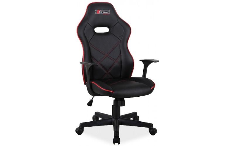 BOXTER čierno-červená, kancelárske kreslo