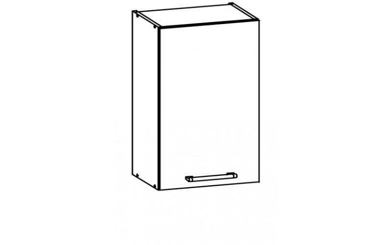 MODENA biely lesk/grafit matný MD04/G45, horná skrinka v šírke 45 cm
