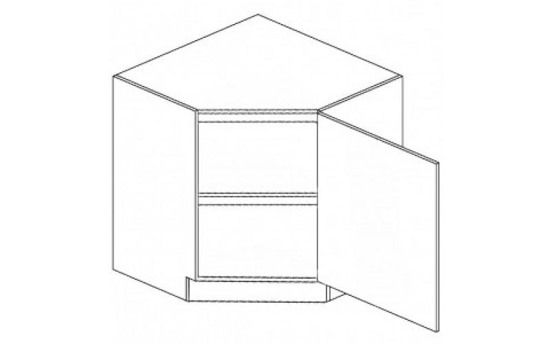 DELICJA dub messina D30/DF26, dolná rohová skrinka v šírke 90x90cm