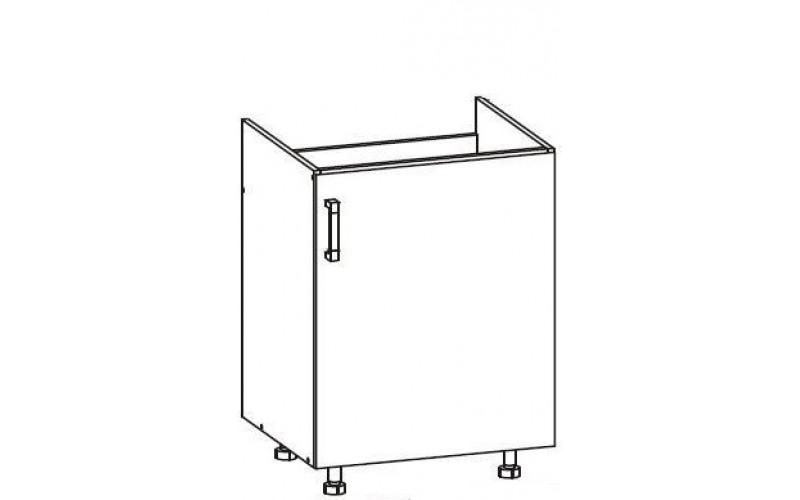 IRIS ferro sivá DK60, dolná drezová skrinka v šírke 60 cm