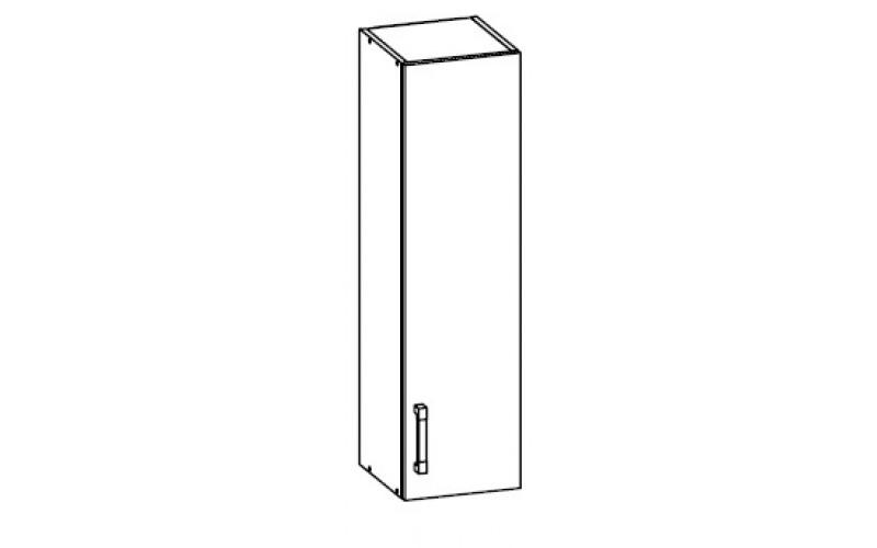 TOP LINE sivý lesk G30/95, horná skrinka v šírke 30 cm a výške 95 cm