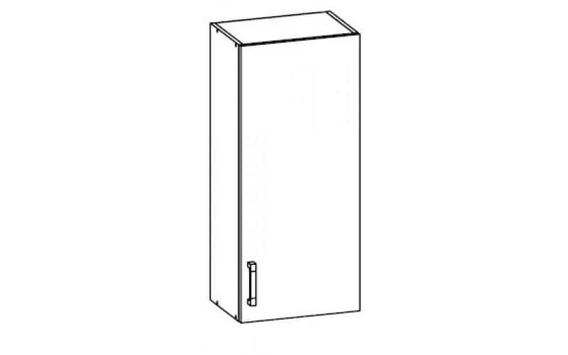 TOP LINE sivý lesk G45/95, horná skrinka v šírke 45 cm a výške 95 cm