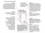 HAMPER dub lancelot sivý DL60/207, vysoká skrinka na vstavanú chladničku v šírke 60 cm a výške 207 cm