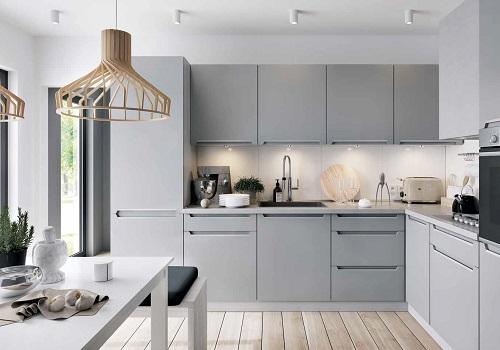IRIS ferro sivá, sektorová kuchyňa