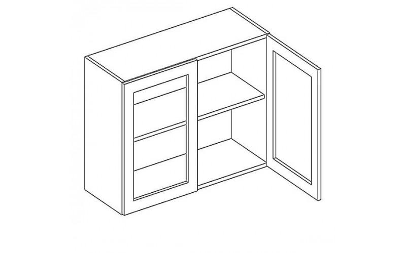 NOVI W80W, horná skrinka so sklom v šírke 80 cm