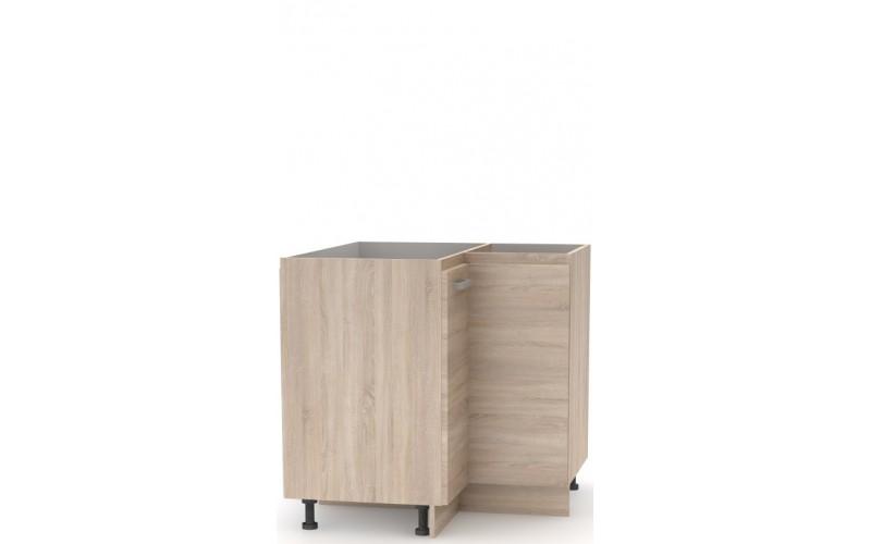 NOVA PLUS NOPL-061-RS dub sonoma, dolná rohová skrinka v šírke 90x90 cm