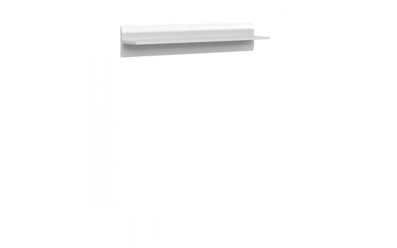 AZTECA TRIO biela/biely lesk P/2/11, závesná polica