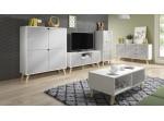 TOKIO biela/sivá TK01, TV stolík