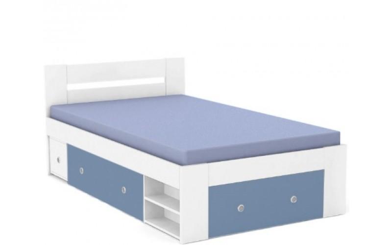 REA LARISA UP 120 biela + farebné čielko, posteľ v šírke 120x200 cm
