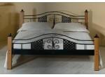 ELBA kovaná posteľ s masivnym drevom v šírke 140, 160 a 180 x 200 cm