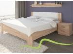 NIKOLETA 2 buková/dubová posteľ 140 x 200 cm