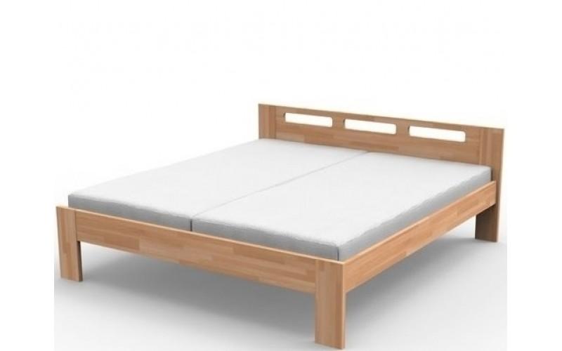 NELA buková/dubová posteľ 140 x 200 cm